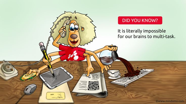 Just relax, it's perfectly fine if you find #multitasking difficult! :)