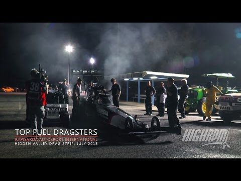 Top Fuel Dragsters in Action. Darwin NT.  The Rapisarda Autosport International team at Hidden Valley Drag Strip.