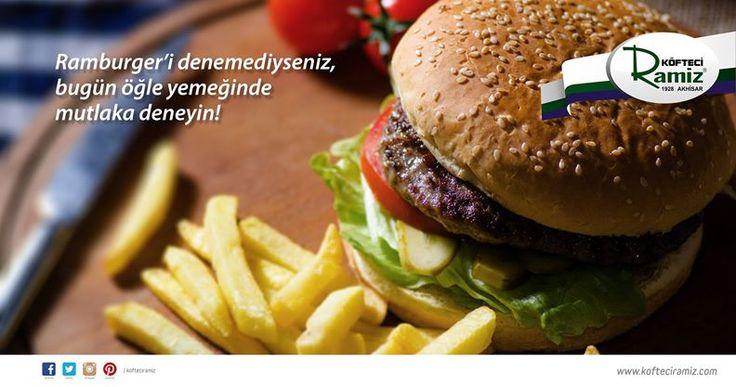 Köfteci Ramiz'in enfes köftesiyle hazırlanmış Ramburger'ini denediniz mi?  Köfteci Ramiz, #BeylikdüzüMigros AVM 1. katta. #bmigrosavm #food #burger
