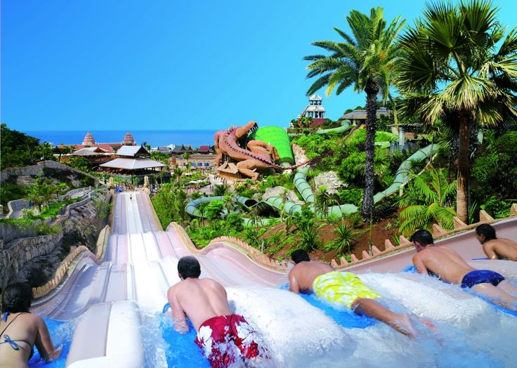 Naga Racer at Siam Park, Tenerife A six-lane racing slide, this is a great one for competitive families!