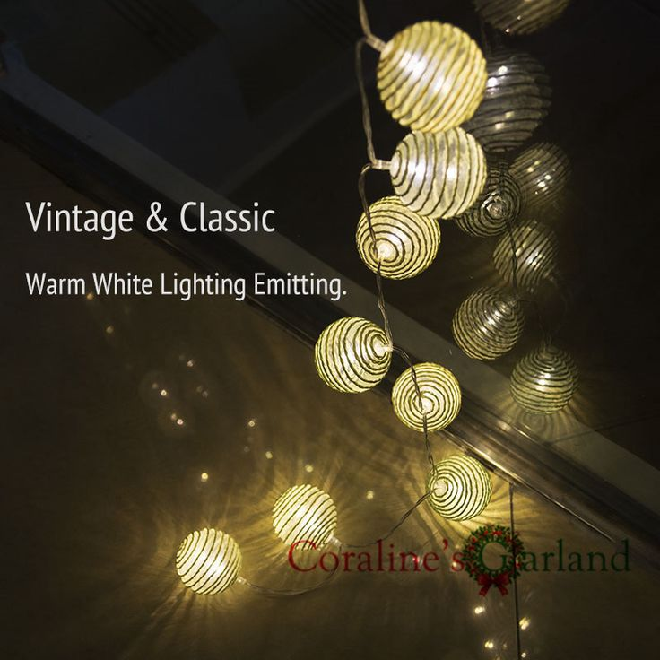 20 LED cotton ball Battery Operated LED Fairy Lights String Decoration garland lights for Festival Party Wedding marriage Decor