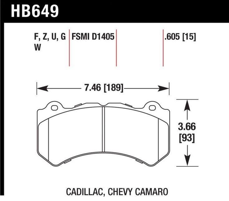 Hawk 09-15 Cadillac CTS-V/ 12-15 Jeep Grand Cherokee SRT8 Chevrolet Camaro ZL1 V8/ 15 Dodge Charger Corvette Z06 Performance Ceramic Front Brake Pads