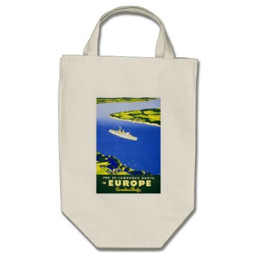 Europe By Ship - Vintage Travel Bags