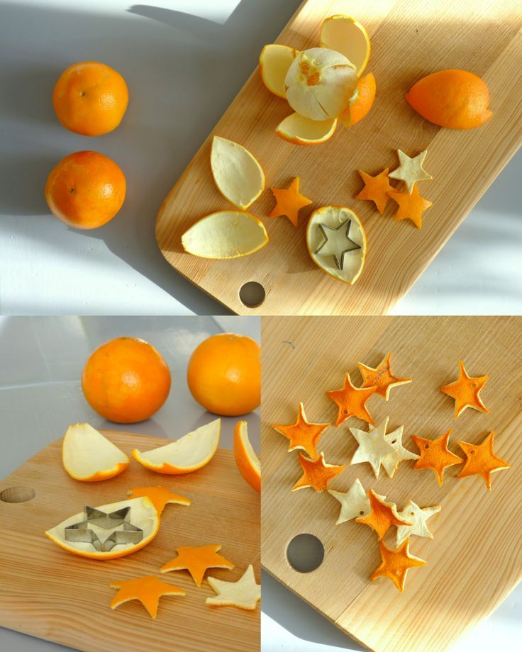 orange stars for garland or arrangements