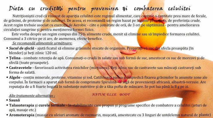 Dieta cu crudităţi pentru prevenirea şi combaterea celulitei