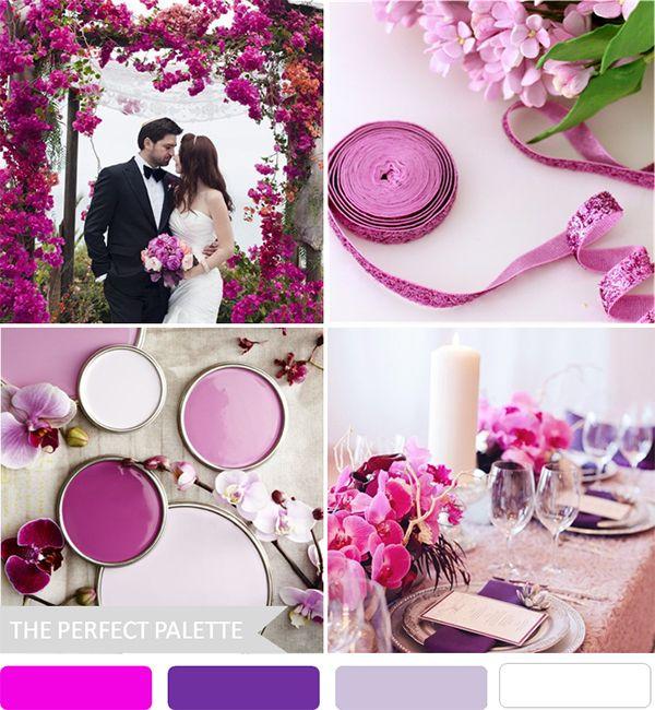 Radiant Orchid wedding ideas #coloroftheyear http://www.bridalguide.com/planning/wedding-planning-basics/wedding-colors?page=0,41