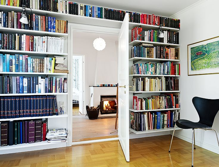I have A LOT of books, so a wall of bookshelves would be really neat! More space for other things!