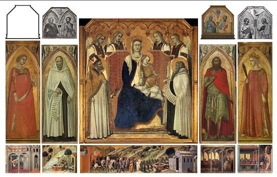 Pietro Lorenzetti, Pala del Carmine (Reconstruction), (1327-29)