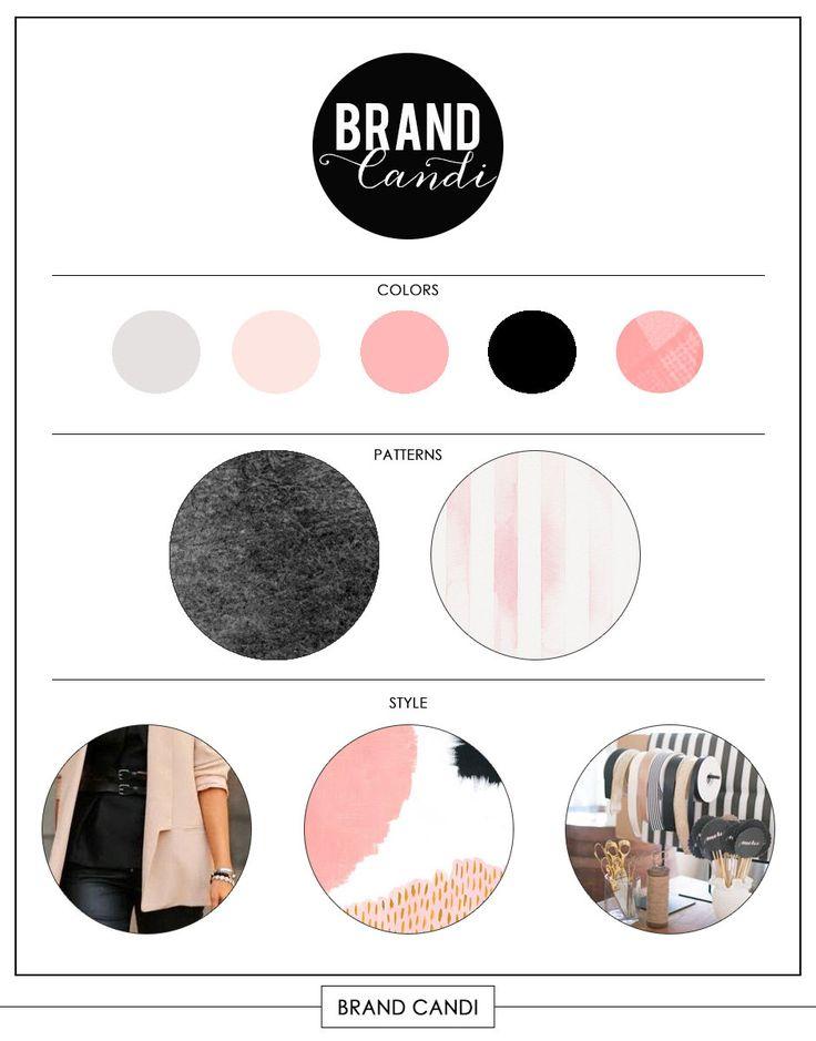 fashion mood board template - instant download brand board template style board