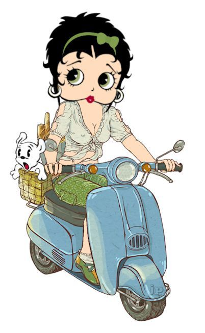 Betty Boop Italian Scooter - Italy