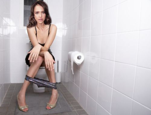 Toilet girl pooping nude foreplay