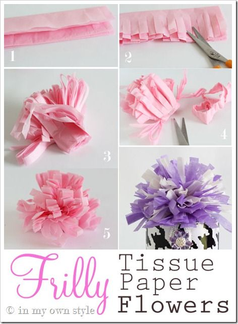 Tissue paper flowers: Flowers Diy, Crafts Ideas, Mothers Day Gifts, Frilly Paper Flowing, Diy Crafts, Tissue Paper Flowers, Gifts Wraps, Fake Flowers, Gifts Boxes