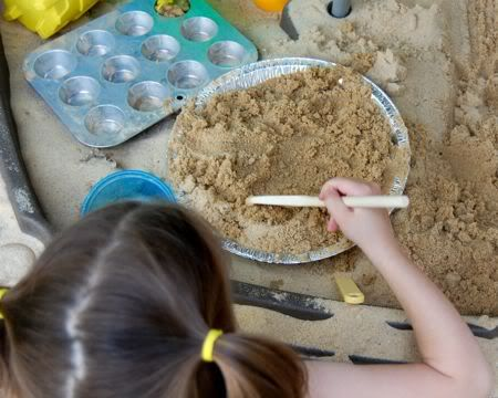 Make mud pies! So simple but hours of fun! Must remember to do this with Lauren this summer! :)