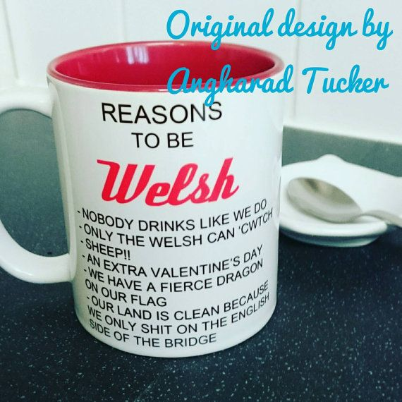 Reasons to be a Welsh mug Wales Rugby by Frozenintimegifts on Etsy
