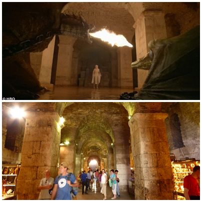 The basements of the Diocletian's palace, Split, Croatia  Used as the dungeon where Daenerys locked away the dragons...  I think it does look scarier with all the tourists than with the dragons ;)
