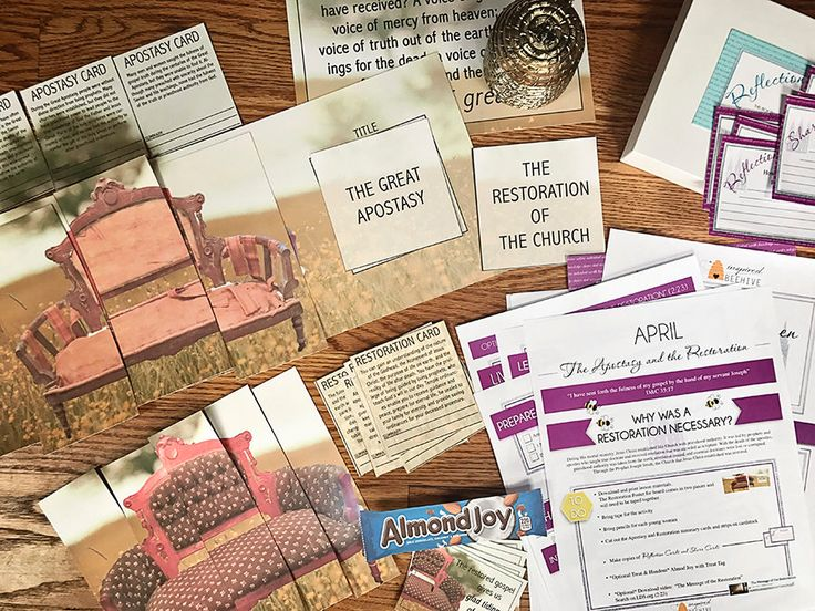 April - Why Was a Restoration Necessary? Young Women's Lesson Plan by InspiredBeehive on Etsy https://www.etsy.com/listing/522086061/april-why-was-a-restoration-necessary