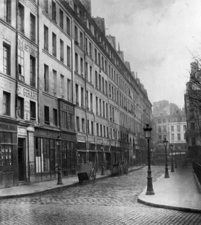 Rue de Rivoli, 1870-1871, pre-Hausmann Paris, Charles Marville.