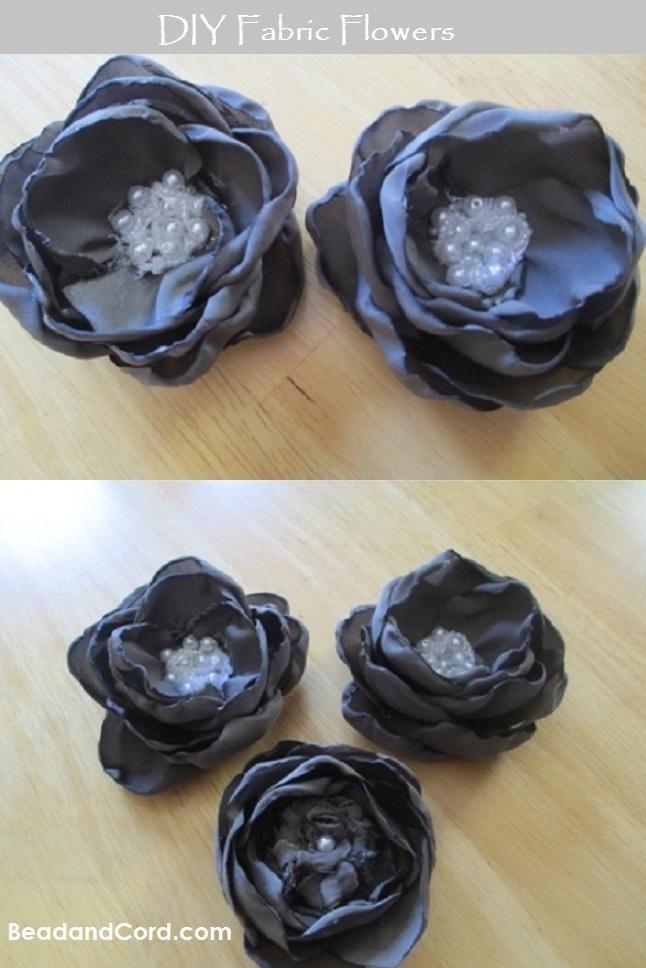 DIY Tutorial: Hair Accessories / DIY Fabric Rose Flower - Createsie