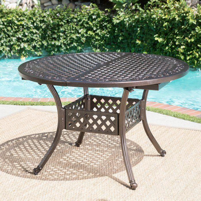 Rosemont Extendable Metal Dining Table Metal Dining Table Wicker Dining Tables Oval Table Dining