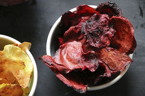 Randen-Chips | beetroot chips homemade by LeLo www.machetwas.blogspot.com