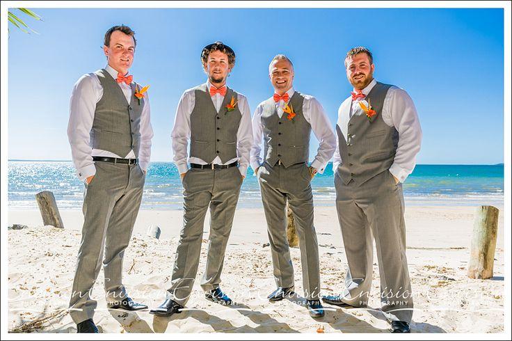 Dan and his Groomsmen- At Kingfisher Bay Resort, Fraser Island