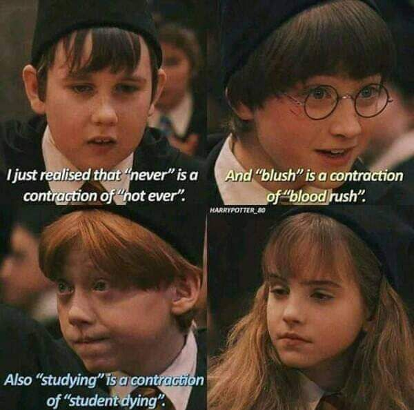Pressure Of Studies Funny Harry Potter Jokes Harry Potter Memes Hilarious Harry Potter Memes