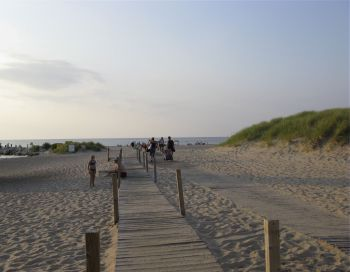 Beach boardwalk - New Buffalo, Michigan