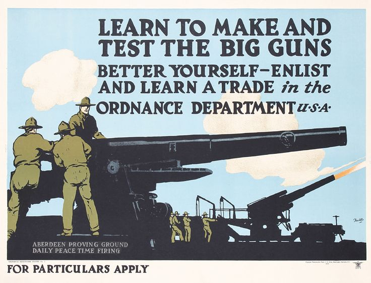 Original Vintage 1919 Military Recruiting Poster FALLS