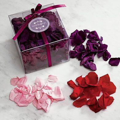Preserved Natural Rose Petals. Instead of paper confetti or silk rose petals, go…