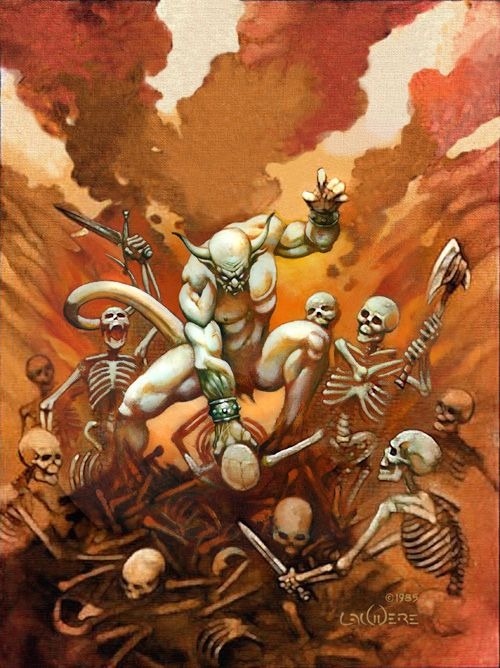 "Kreator ""Pleasure to Kill"" Album Art  By Phil Lawvere"