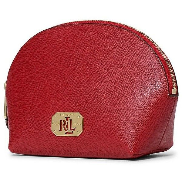 Lauren Ralph Leather Cosmetic Case 295 Sar Liked On Polyvore Featuring Beauty Products Accessories Bags Cases Fall Red Leat