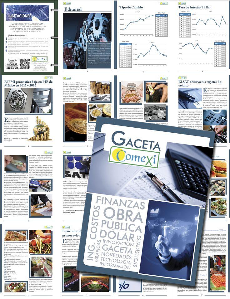 Diseño de la Gaceta para la Empresa de COMEXI, especializada en temas de costos y finanzas en el ambito de Obras. (4 Ediciones)