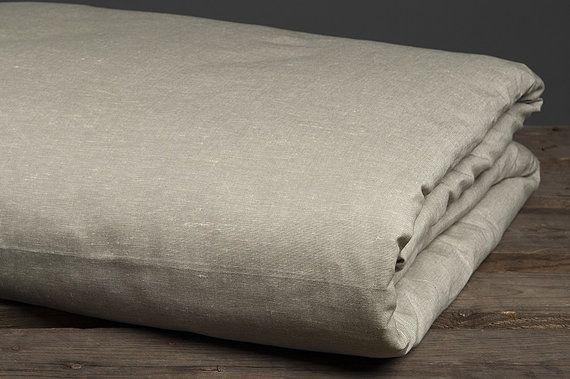 Linen duvet cover, linen bedding, linen cotton fabric duvet cover, gray brown, queen size king size, bedding set, natural, custom sewing