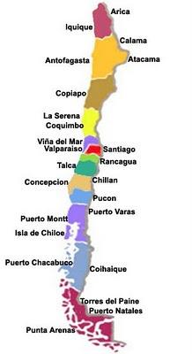 Chile,  ciudades.