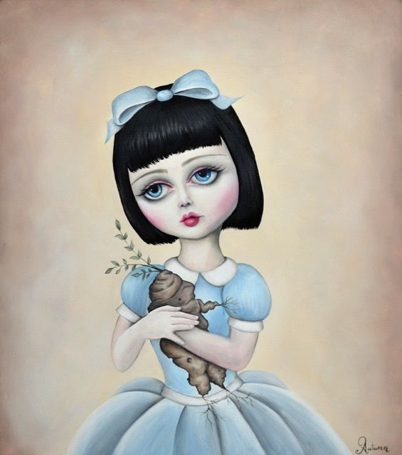 My Little Mandrake, Big eyes, lolita, doll, baby doll, Art, Magic, Artist Autumn