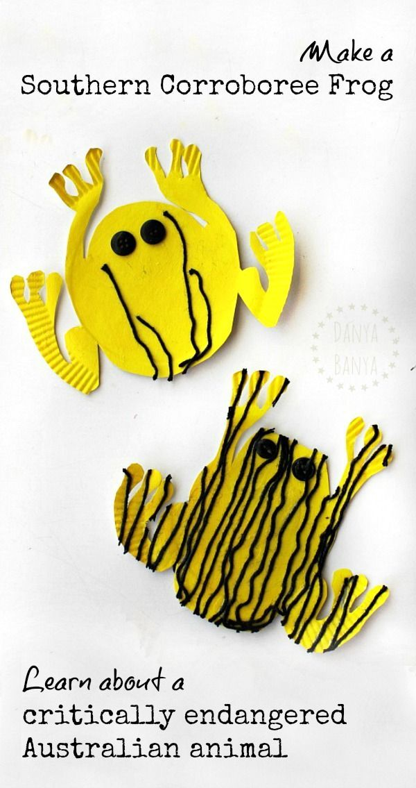 Make a Southern Corroboree Frog craft and learn about a critically endangered australian animal and the conservation efforts of environmental scientists to save it
