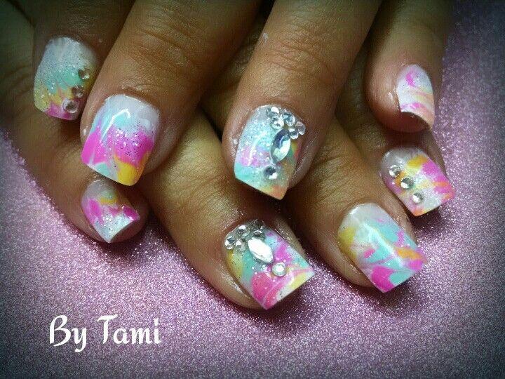 Tie Die Nails