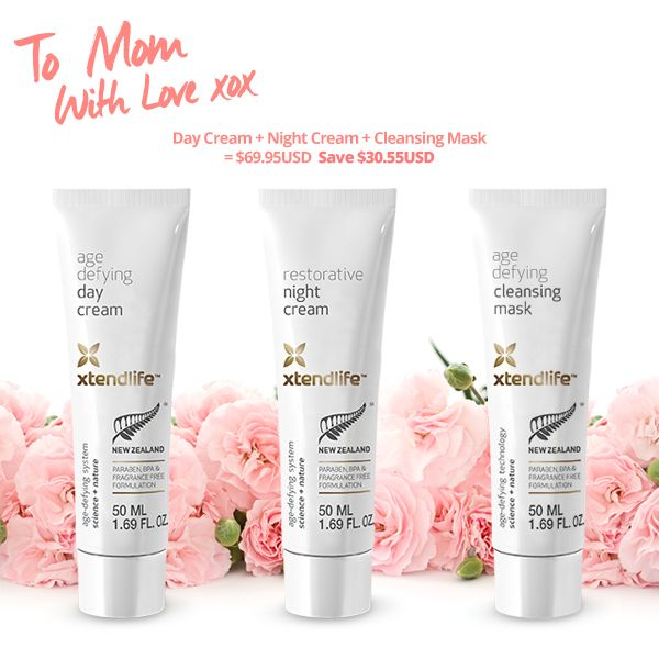 Shop our Mom's Day beauty bundle and live beautifully, for less! #naturalingredients #beauty #skincare #anitaging