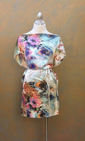 Feather Satin Kimono Tie Dress – Sample43 Clothing Studio