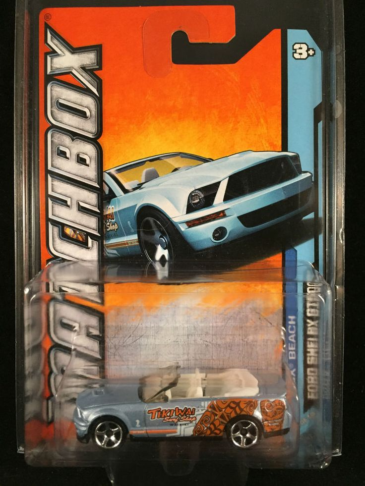 2012 Matchbox MBX Beach FORD SHELBY GT 500 Convertible #16 Waikiki w/ PROTECTO  #Matchbox #Ford