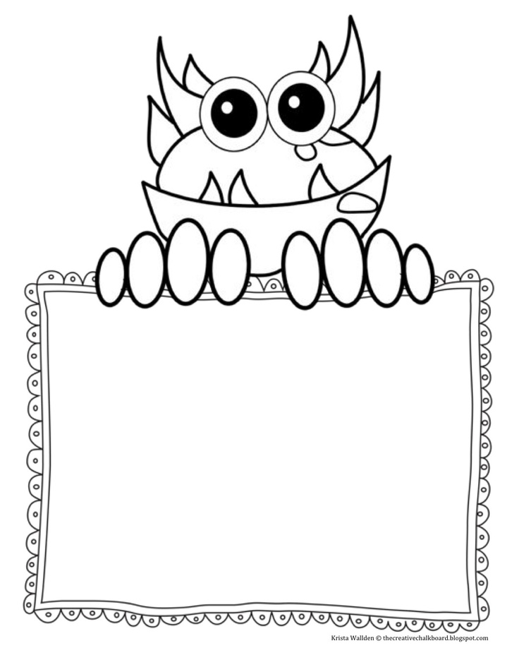 """Free printable monster mark-making paper ("""",)"""