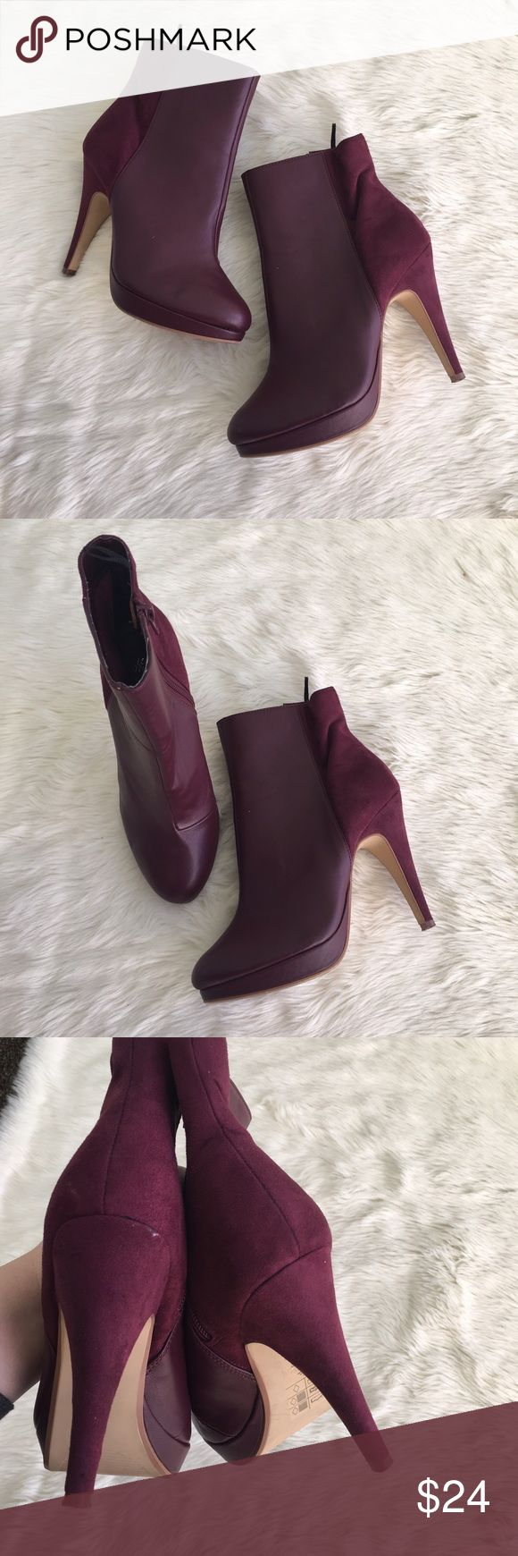 H&m velvet vegan rather heel booties Sz 37 H&m booties. Excellent like new condition aside from marks from storage as photographed. H&M Shoes Ankle Boots & Booties