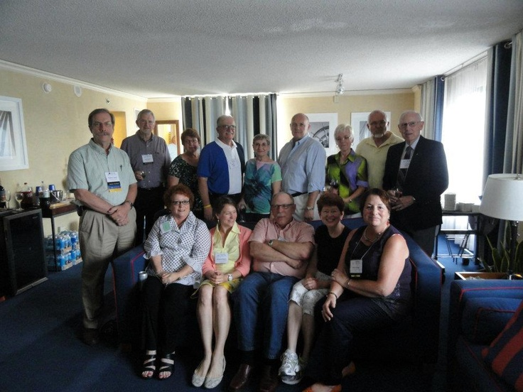 12 ACE Past Presidents gathered in Annapolis in 2012: Bob Furbee, Janet Rodekohr, Robert Casler, Tom Knecht, Frankie Gould, Martha Filipic, Kris Boone Payne, Bob Sams, Terry Meisenbach, Virginia Morgan White, Linda Foster Benedict, Dave King and Holly Young.