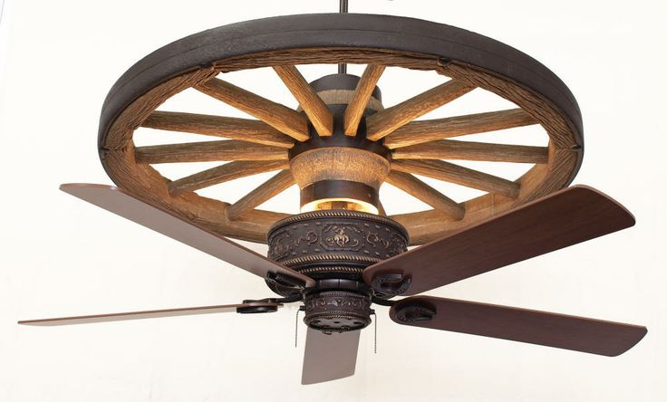 Western decor ceiling fan...hadnt thought of this....I kinda like it........