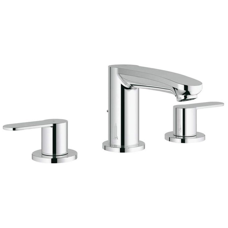 Picture Collection Website GROHE Eurosmart Cosmopolitan Starlight Chrome handle Widespread Bathroom Faucet