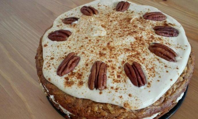 Podzimní dýňový koláč s tofu krémem