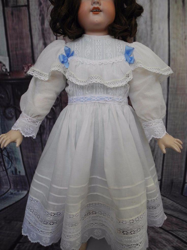 """Быстро и удобно купить Французская антикварная кукла из бисквитного фарфора (до 1930 года)  Beautiful vintage dress  for antique   German dolls 23-24"""" на интернет-аукционе eBay с доставкой в Украину со 100% гарантией."""