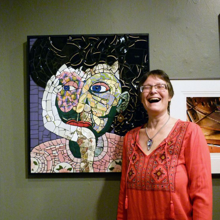 """With my work, """"Imagine"""" @ the Pensacola Museum of Art, Opening Reception.  Annual Members' Juried Exhibit March 4 - April 15, 2016  photo by Margaret Hildreth"""