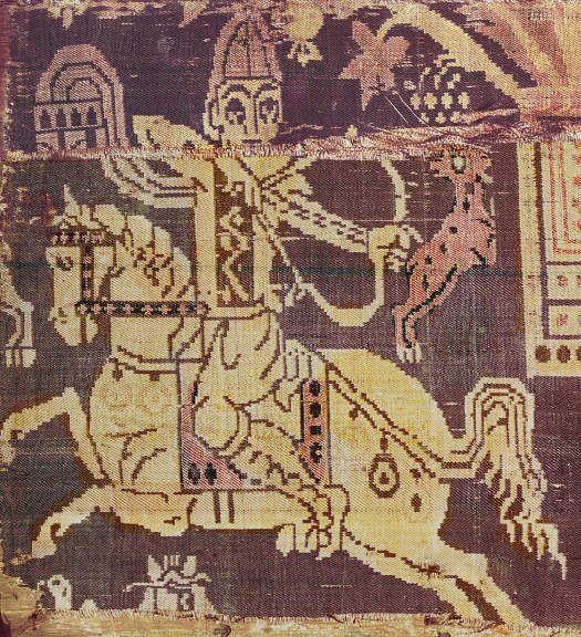 Arab, Syrian or Byzantine Horse Archers, on silk textiles