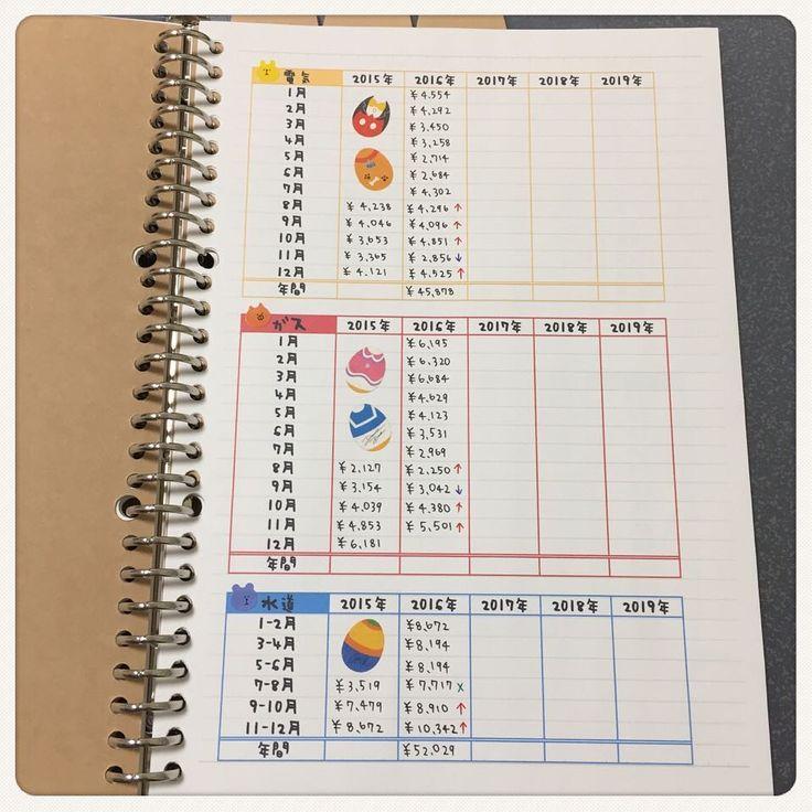 家計 簿 手書き ノート